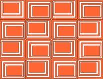 röda fyrkanter för bakgrund stock illustrationer