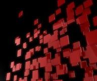 röda fyrkanter för bakgrund 3d Royaltyfri Foto