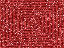 Röda fyrkanter och bubblor, bakgrund Fotografering för Bildbyråer