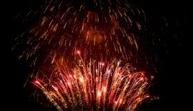 röda fyrverkerier Royaltyfri Foto