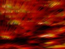 röda galna strålar Royaltyfria Bilder