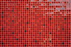 Röda glansiga tegelplattor Royaltyfria Bilder