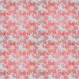 Röda grå färger för sömlös blom- modell Arkivbilder
