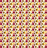 Röda, gröna och gula nyckfulla prickar Royaltyfri Bild