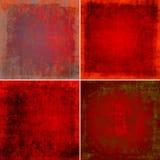 Röda grungebakgrunder royaltyfri illustrationer