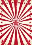 Röda grungesolstrålar Arkivbilder