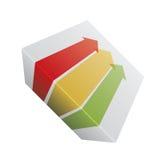 Röda, gula och gröna pilar. Royaltyfri Foto