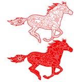 röda hästar Royaltyfri Bild
