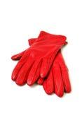 Röda handskar Fotografering för Bildbyråer