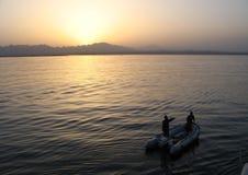 Röda havet uppblåsbar dyk för dykare, Egypten arkivfoton