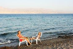 Röda havetkust royaltyfri bild