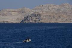 Röda havetlandskap royaltyfri fotografi