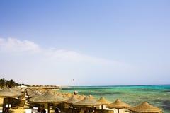 Röda havetstrandRöda havet Egypten Arkivfoto