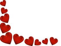 röda hjärtor Royaltyfri Fotografi