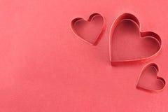 Röda hjärtor Arkivfoto