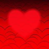 Röda hjärtor Arkivbilder