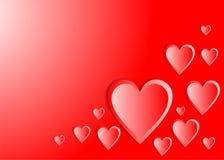 Röda hjärtor Royaltyfria Foton
