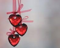 röda hjärtor Arkivbild