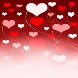 röda hjärtor Royaltyfri Bild
