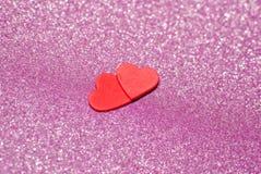 röda hjärtor Arkivfoton