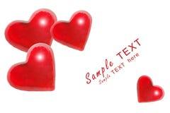 röda hjärtor stock illustrationer