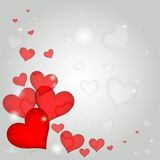 Röda hjärtor för valentindag Royaltyfri Bild