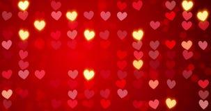 röda hjärtor lyckliga valentiner för bakgrundsdag stock illustrationer