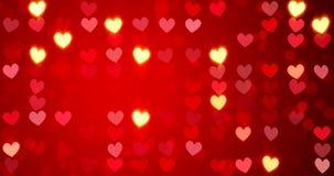 röda hjärtor lyckliga valentiner för bakgrundsdag lager videofilmer