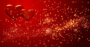 röda hjärtor lyckliga valentiner för bakgrundsdag stock video