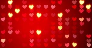 röda hjärtor lyckliga valentiner för bakgrundsdag framförande 3d stock illustrationer