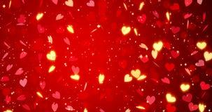röda hjärtor lyckliga valentiner för bakgrundsdag framförande 3d vektor illustrationer