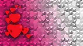 Röda hjärtor på bakgrund Arkivbild
