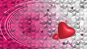 Röda hjärtor på bakgrund Fotografering för Bildbyråer