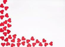 Röda hjärtor på white Royaltyfria Foton