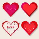 röda hjärtor Vektorillustration EPS10 Royaltyfria Foton