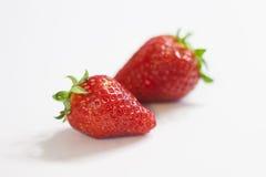 röda jordgubbar Arkivfoto