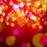 röda jullampor Royaltyfri Foto