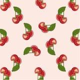 Röda körsbär för bakgrund Arkivfoton