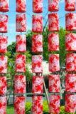 röda kinesiska lyktor royaltyfri foto