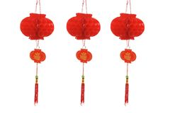 röda kinesiska lyktor Royaltyfria Bilder