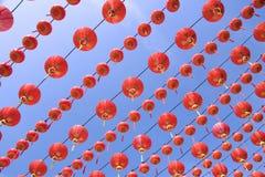 röda kinesiska lyktor Royaltyfria Foton