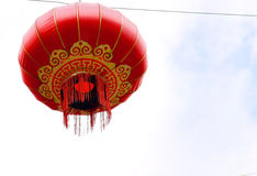 Röda kinesiska Paper lyktor Royaltyfria Bilder
