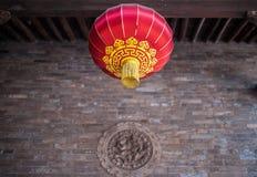 Röda kinesiska Paper lyktor Arkivfoton