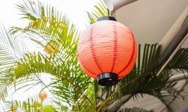 Röda kinesiska Paper lyktor Royaltyfri Fotografi