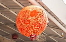 Röda kinesiska Paper lyktor Royaltyfri Foto