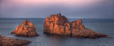 Röda klippor Arkivbild