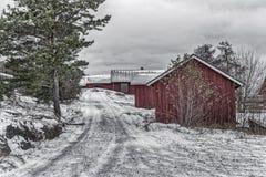 Röda kojor Fotografering för Bildbyråer