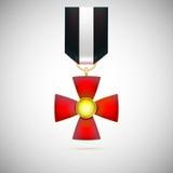 Röda korset illustration av en militär medalj Arkivfoton