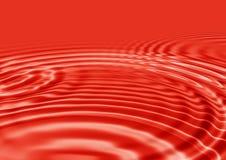 röda krusningar vektor illustrationer