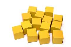 Röda kuber Fotografering för Bildbyråer